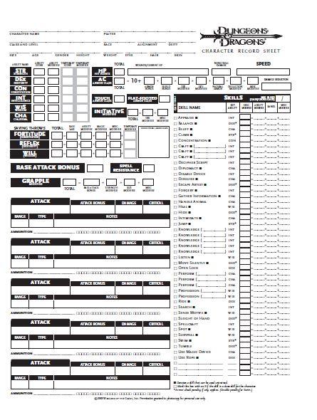 best d&d 5e character sheet d&d . character sheet pdf files - dungeons and dragons