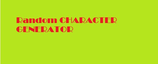 D&D 5e Random Character Generator/Builder - Dungeons and Dragons
